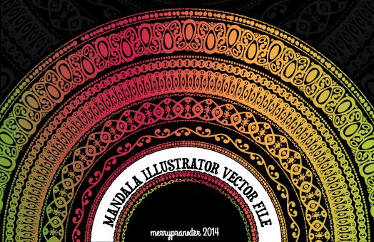 Original Mandala AI Vector File by merrypranxter