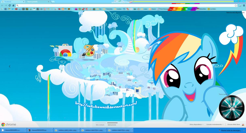 (Updated) Rainbow Dash Google Chrome Theme by NekoKawaii11
