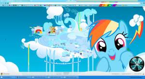 (Updated) Rainbow Dash Google Chrome Theme