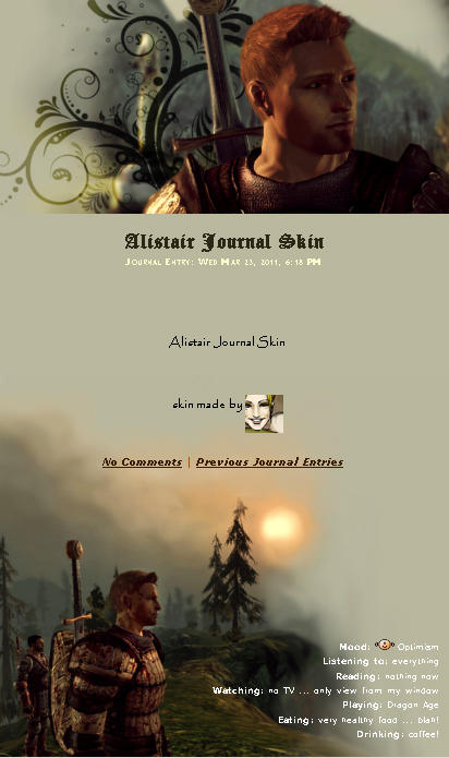 Alistair Journal Skin by yuhime