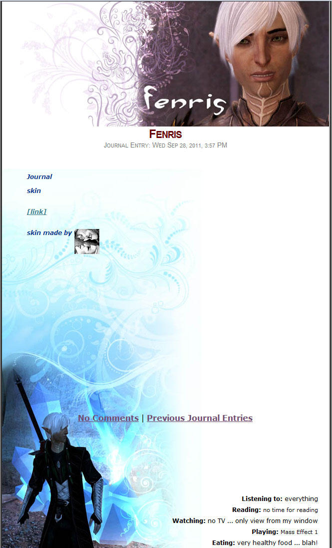 Fenris Journal Skin by yuhime