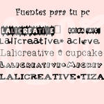 Fuentes para tu pc by LaliCreative