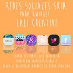 Redes sociales skin xwidget