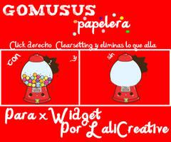 Gomusus Papelera Skin Para xWidget by LaliCreative