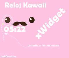RelojKawaii Skin para xWidget by LaliCreative