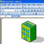 Pixel Art in MS Excel by isnayper