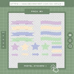 Pack #9 Pastel Stickers 1