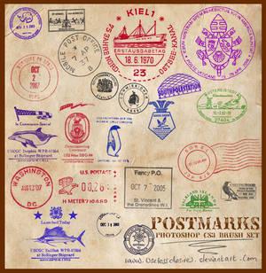 Postmarks CS3 Brushes
