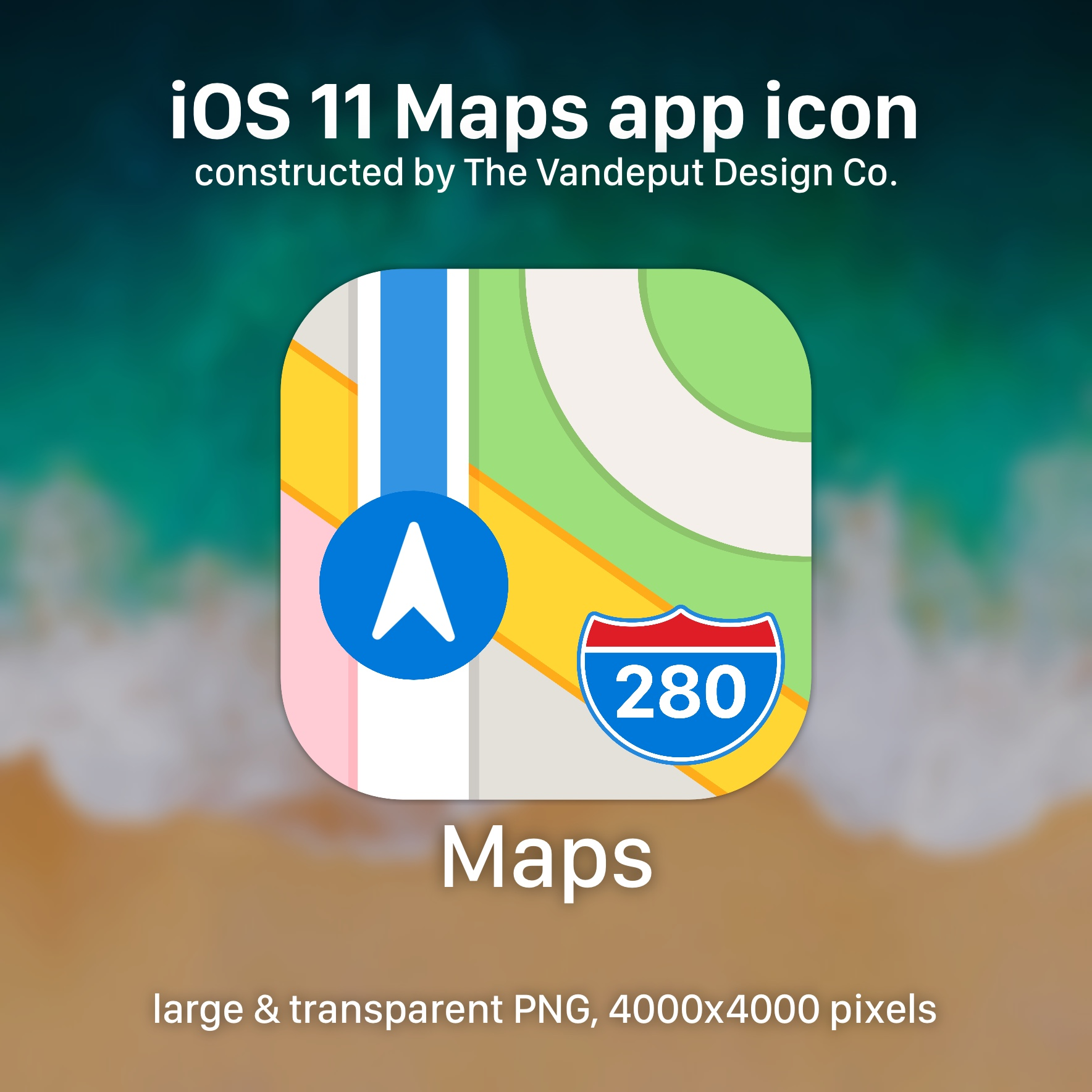 Ios 11 Maps App Icon Large Png By Uselessdesires On Deviantart