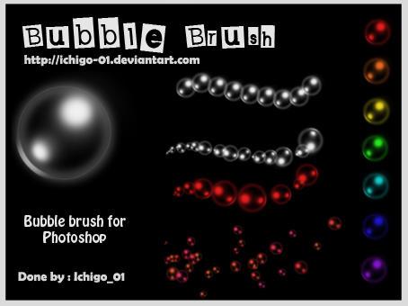 Bubbles Brush_Photoshop by ichigo-01
