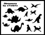 Dinosaur Brushes for Photoshop