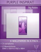 Purple Inspirat  - Wallpaper by kzzu