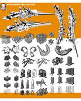 Monkey 3D sketches 2009 by djmonkeyboy