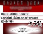 Resident Evil Hazard Game Font