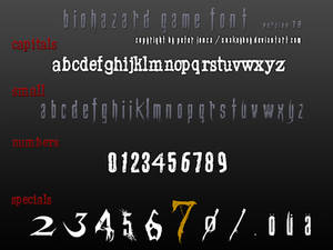 Resident Evil / Biohazard Game Font version 7.8