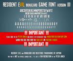 Resident Evil 7 biohazard Game Font version 3