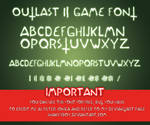 Outlast 2 Game Font version 1