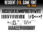 Resident Evil 7 biohazard GAME FONT final Version by Snakeyboy