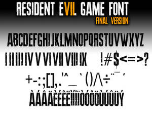 Resident Evil 7 biohazard GAME FONT final Version