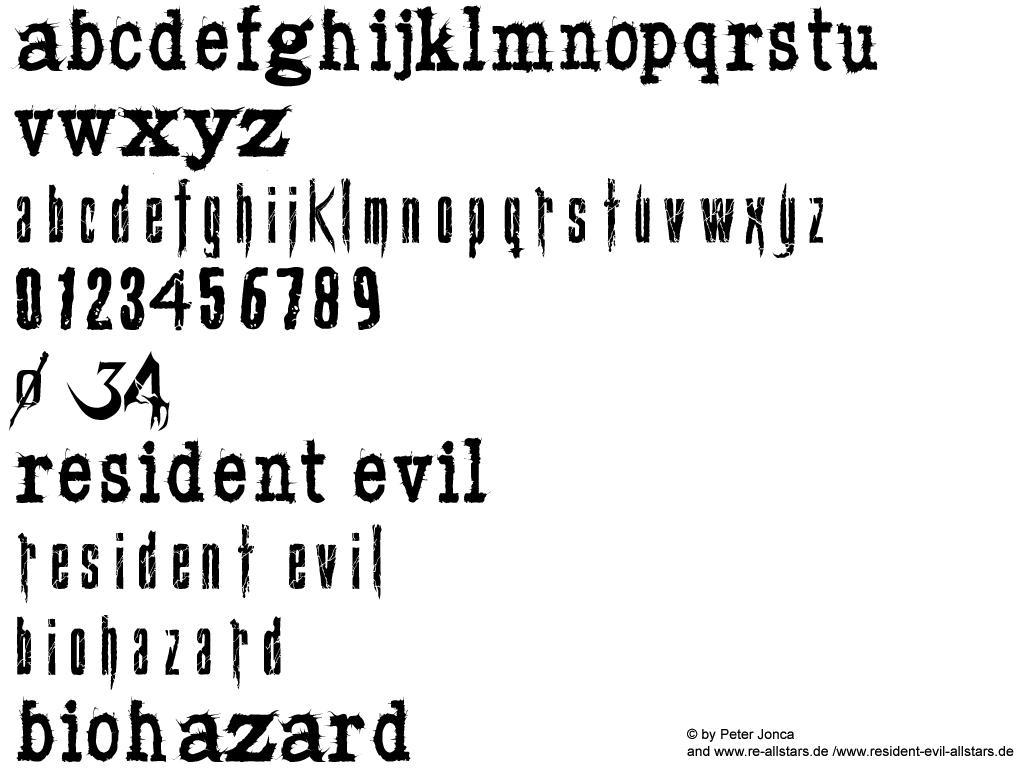 resident evil 4 font by Snakeyboy on DeviantArt