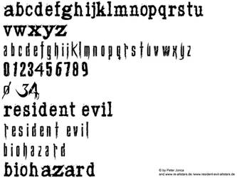 resident evil 4 font by Snakeyboy