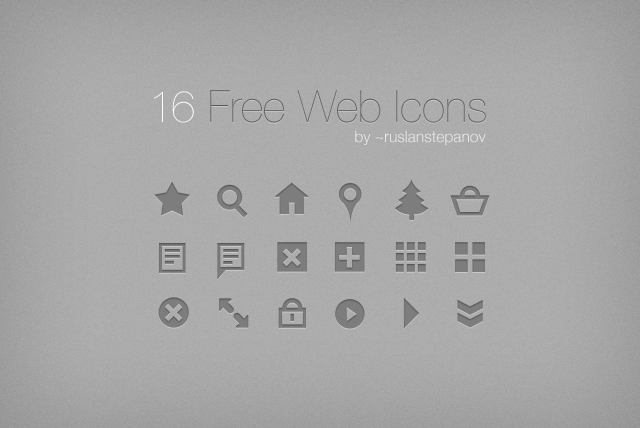16 Free Web Icons by ruslanstepanov