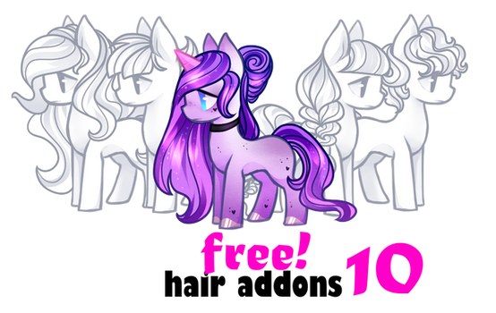 FREE Addons Hair10 for pony by BaseAdopts - F2U
