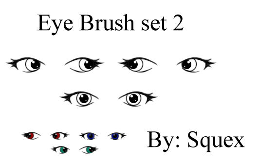 Anime eye brush set2 by Squex