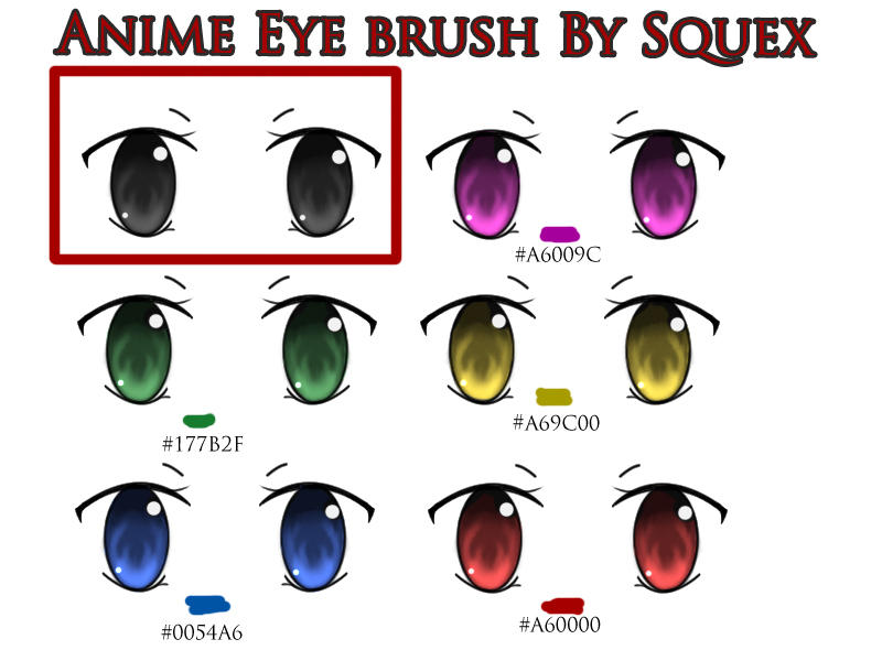 Anime Eyes Girl. Anime eye Brush. Download