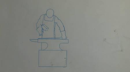 Blacksmith GIF Animation - Pencil by Jed-Stuart