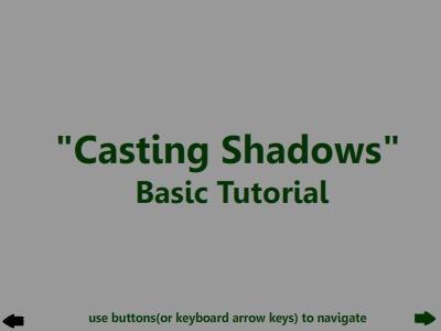 'Casting Shadows' Tutorial