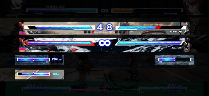 Tekken 7 UNIEL style Lifebar and Meter