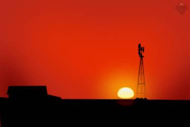 Sunset SVG by bartoszf