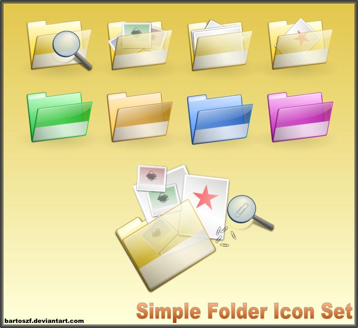 Simple Folder SVG Icon Set