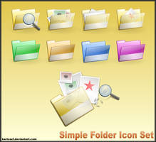 Simple Folder SVG Icon Set by bartoszf