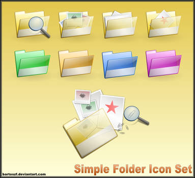 Simple Folder SVG Icon Set by bartoszf