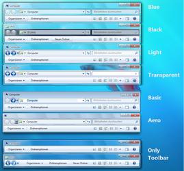 Windows 7 StylerToolbarGerman