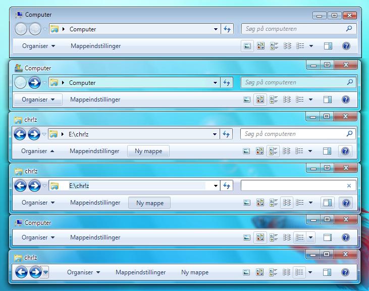 Windows 7 StylerToolbarDanish