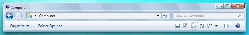 Windows 7 Aero StylerToolbar
