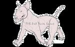 F2U Bull Terrier Lineart