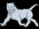 f2u XL XXL Puppy Lineart