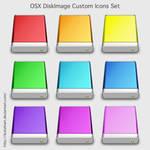 OSX DiskImage Custom Icons Set