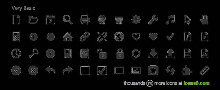 1000+ icons in Windows 8 (Metro) style for free