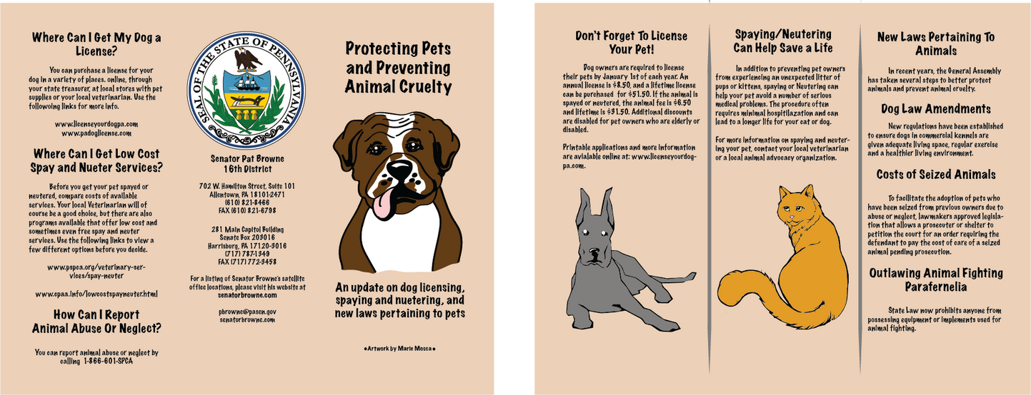 Pet Protection Brochure by RikusOreos