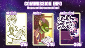 Sketch, Color, and Animated Commissions (OPEN) by Vibiana