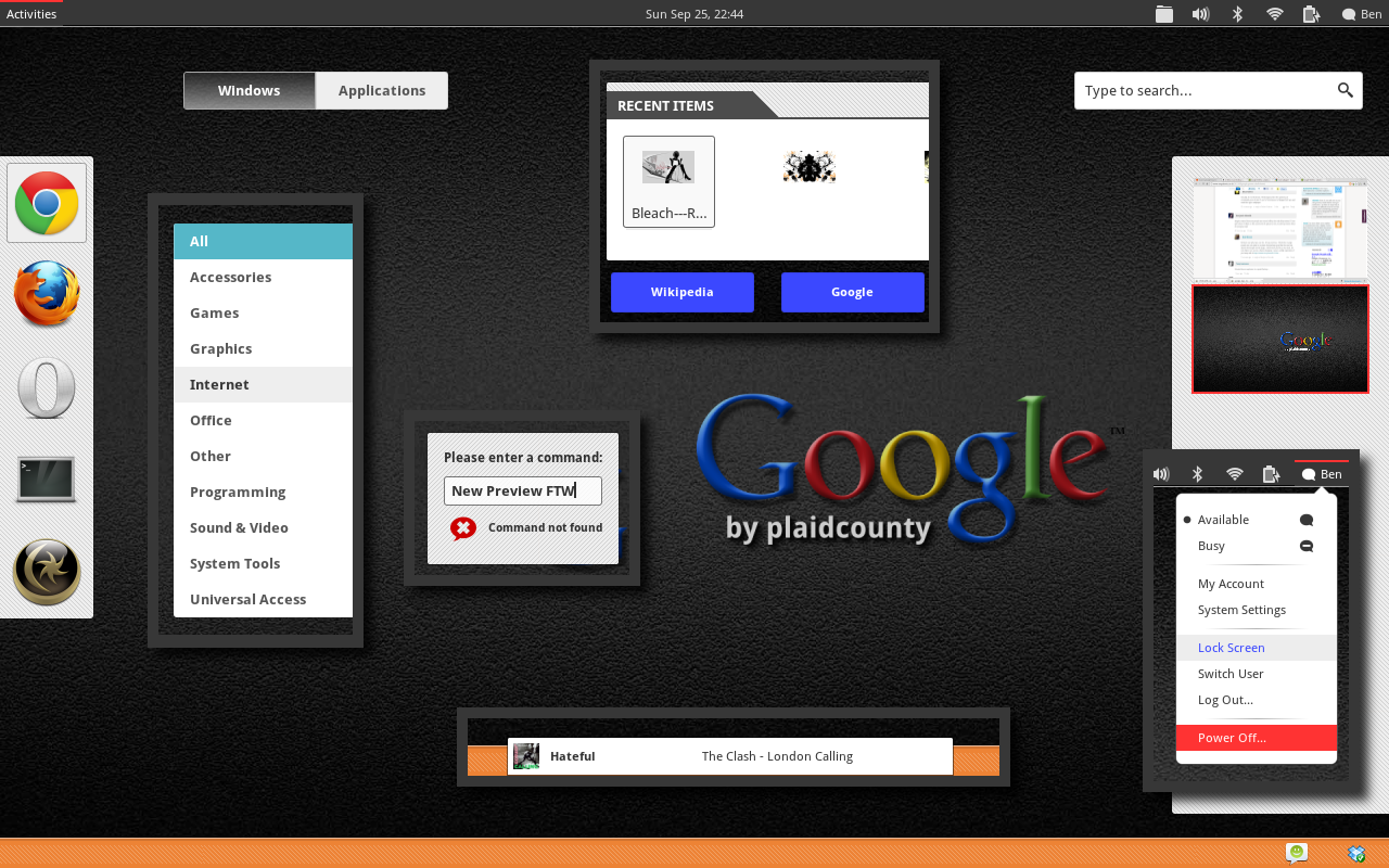 Google Shell +Dark +3.2 by plaidcounty