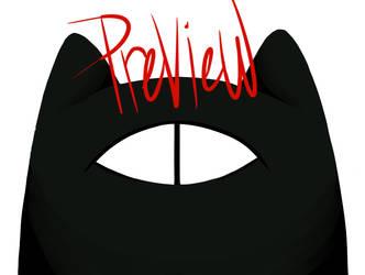 EEK! It's a one-eyed cat!!