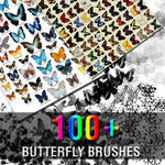 100+ Butterfly Brushes
