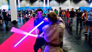 Star Wars Lightsaber Fight 1 (Animated Gif+ Video)