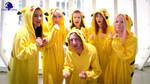 Cosplay Gif + Video: Pokemon Pikachu Group Action